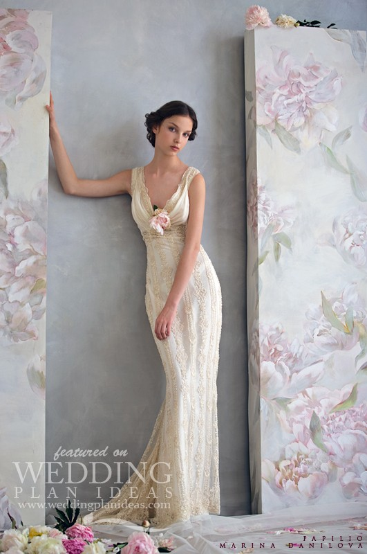 Simple Wedding Dress by Papilio
