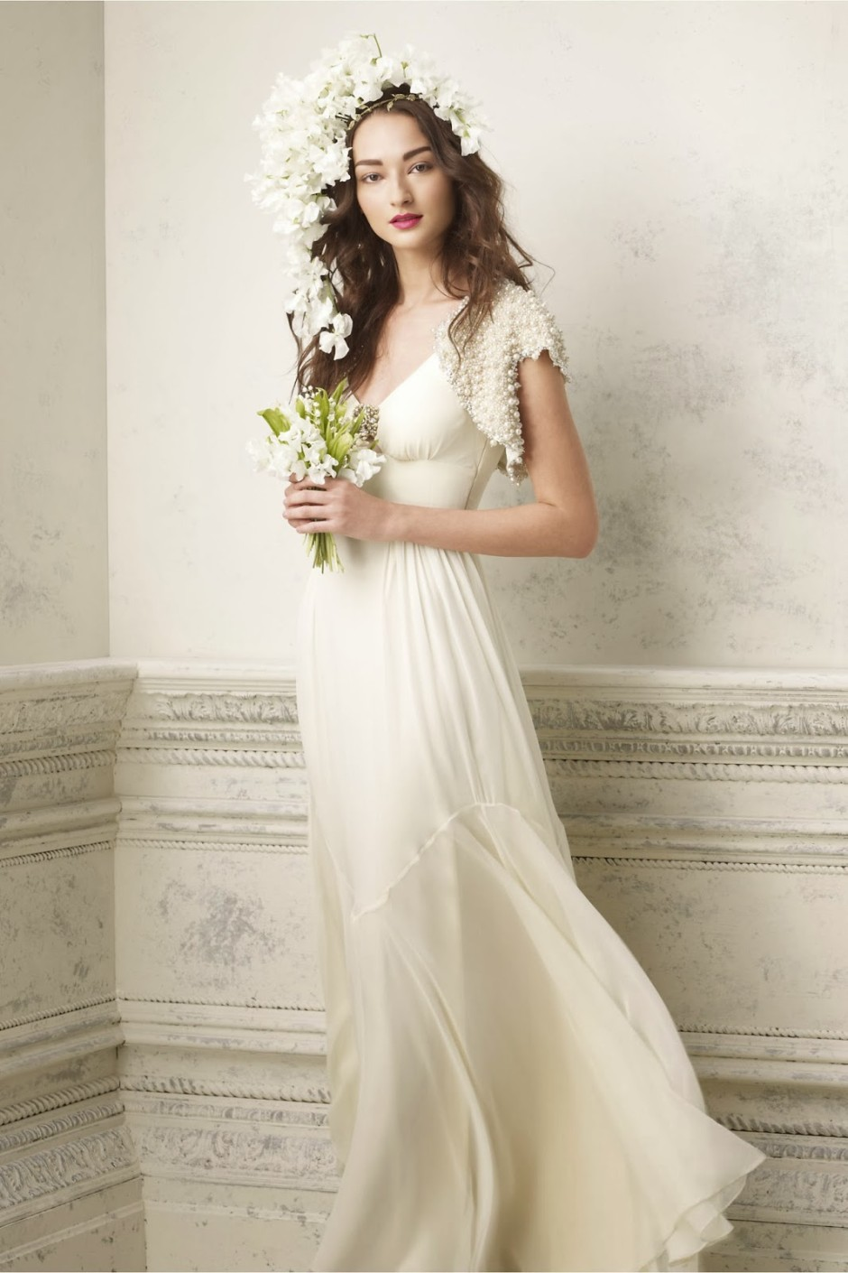 Chiffon Vintage Wedding Dress