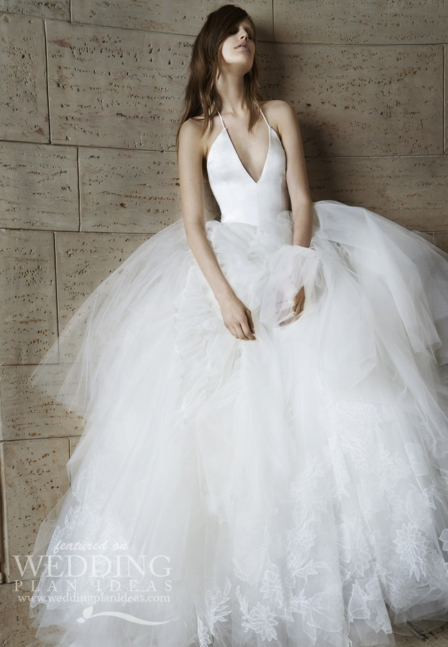 Halter Neck Line Wedding Dress 2015 by Vera Wang